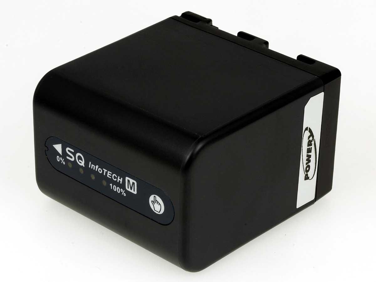 Akku zu Sony Videokamera HDR-HC1E 4200mAh Anthrazit mit LEDs