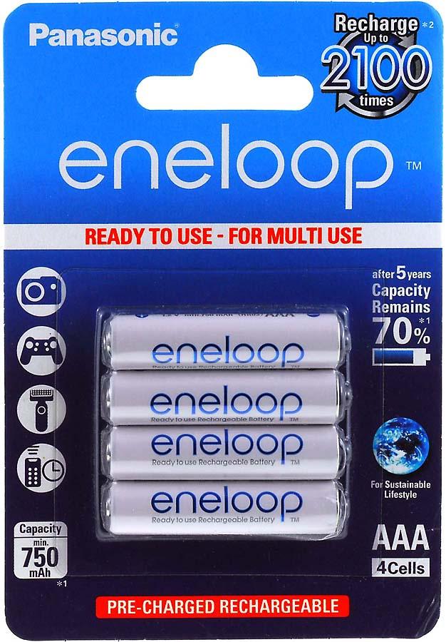 Panasonic eneloop AAA Microakku 750mAh NiMH 4er Pack