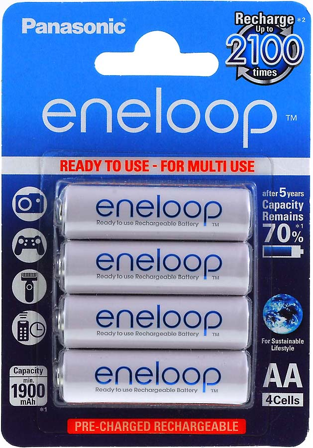 Panasonic eneloop AA Mignon 1900mAh NiMH 4er Pack