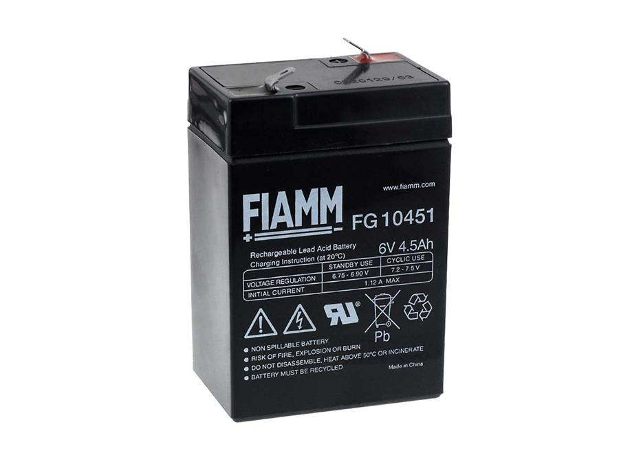 FIAMM Ersatzakku zu Peg Perego Polaris Sportsman 400 Smoby Diamec Sportsmann 400  6V 4 5Ah